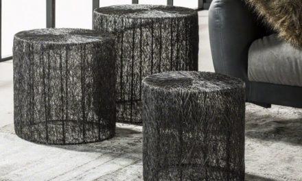 FURBO Sofabordssæt, sort nikkel