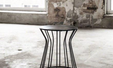 FURBO Sofabord, sort nikkel