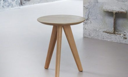FURBO Sofabord i fineret eg, ø 30 cm