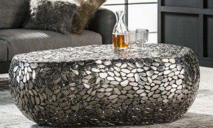 FURBO Sofabord, antik nikkel, 80 x 125 cm