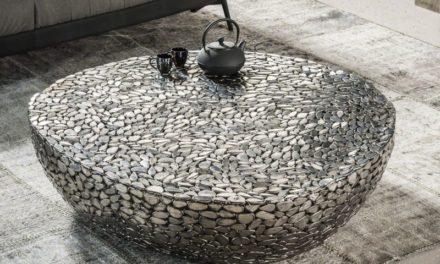 FURBO Sofabord, antik nikkel, 110 x 120 cm