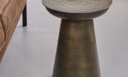 FURBO Sofabord, antik messing, ø 37 cm