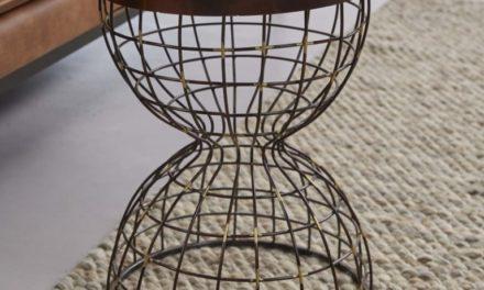 FURBO Sofabord, antik kobber, ø 36 cm