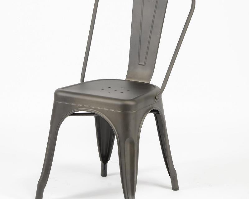 FURBO Spisebordsstol, industriel design, stål