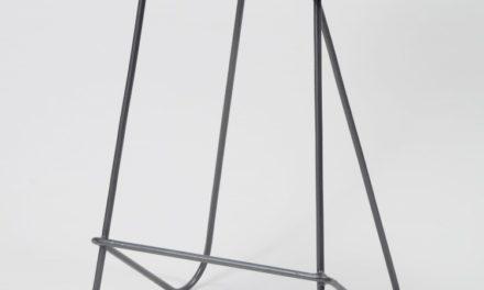 Flot barstol i metal og vintage læder fra det kendte mærke Furbo