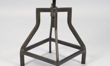 FURBO Spisebordsstol, højdejustbar, stål