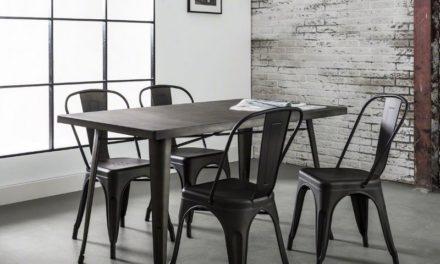 FURBO Spisebord, industriel design, stål