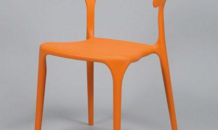 FURBO Spisebordsstol, orange plast