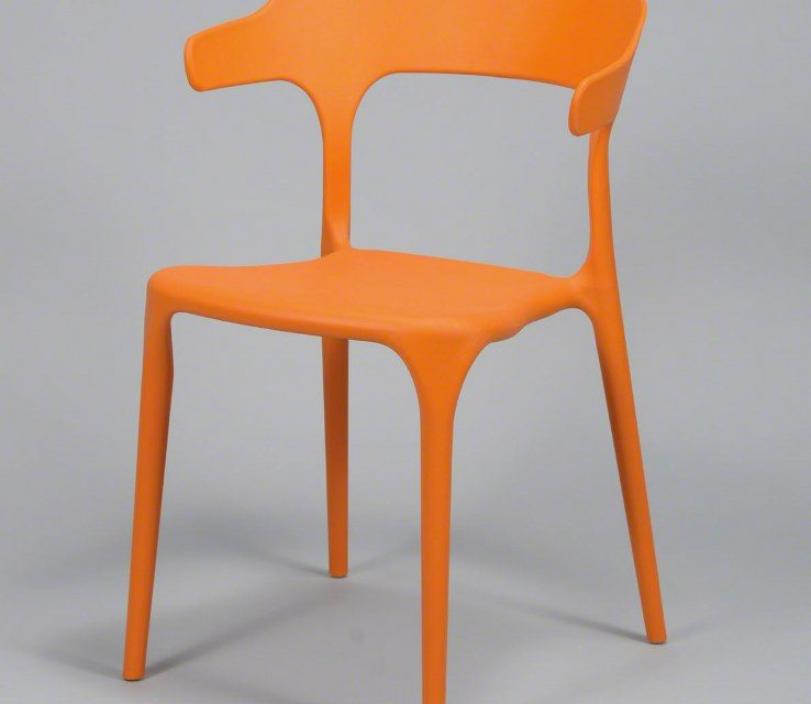 FURBO Spisebordsstol, orange plast