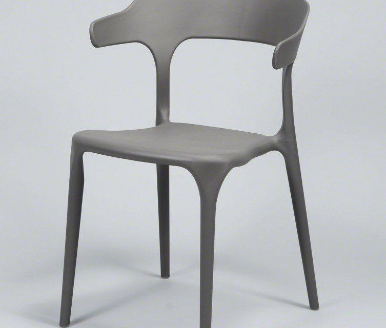 FURBO Spisebordsstol, grå plast