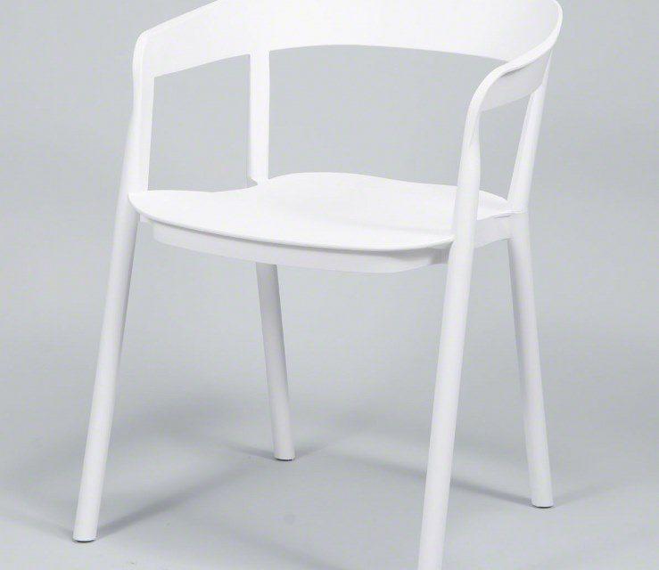 FURBO Spisebordsstol, hvid plast