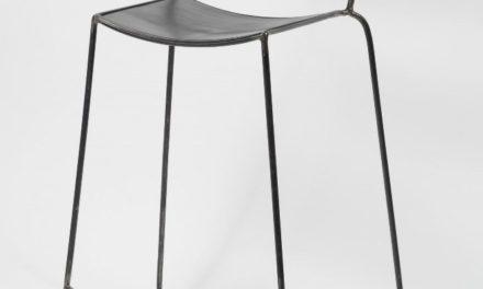 FURBO Barstol, industriel design, sort stål