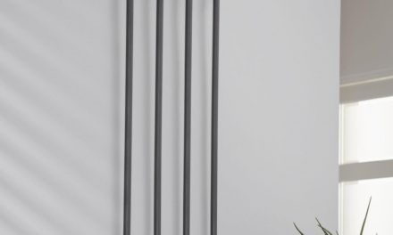 FURBO Knagerække, 4 dobbelt kroge, mat grå stål