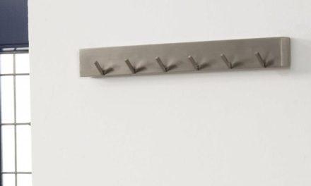 FURBO Knagerække, 6 kroge, børstet stål