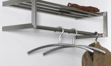 FURBO Hattehylde, børstet stål