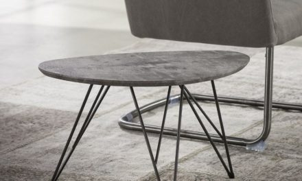 FURBO Sofabord nyreformet, beton look, 40 x 60 cm