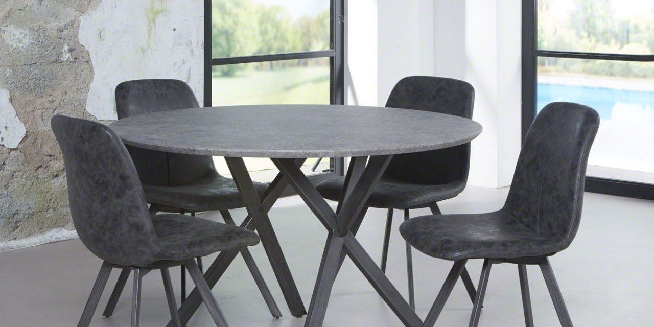 FURBO Spisebord rundt, beton look, ø 120 cm