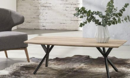 FURBO Sofabord antik ege look, 120 x 60 cm
