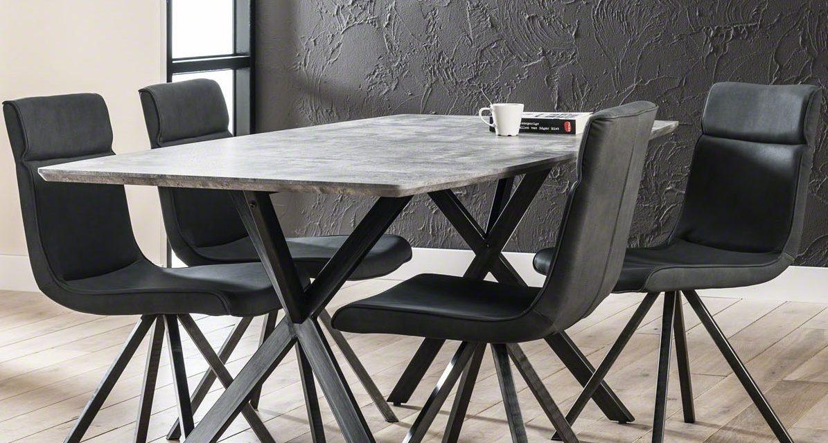 FURBO Spisebord beton look, 90 x 160 cm