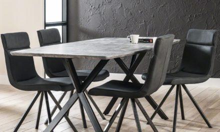FURBO Spisebord beton look, 90 x 190 cm