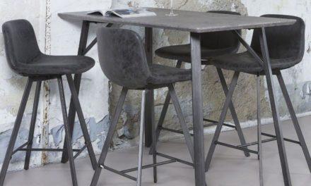 FURBO Barbord beton look, 140 x 70 cm