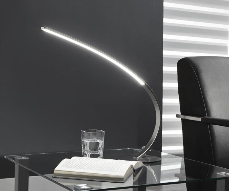 FURBO Bordlampe,LED, mat nikkel