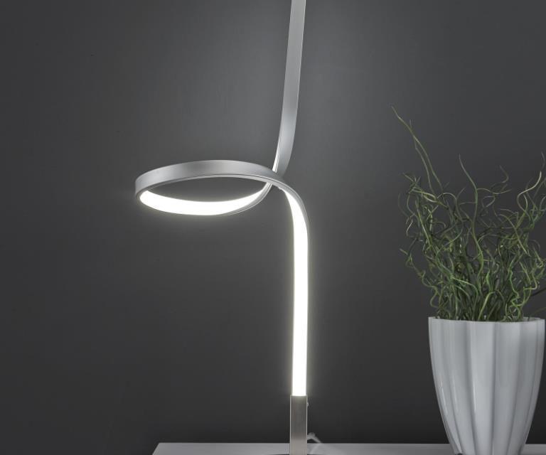 FURBO Bordlampe, LED, mat nikkel