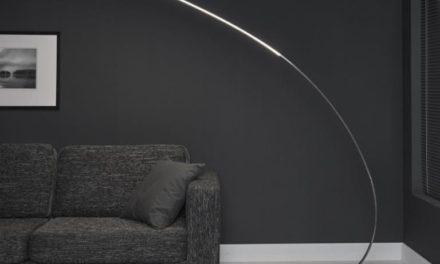 FURBO Gulvlampe, LED, mat nikkel