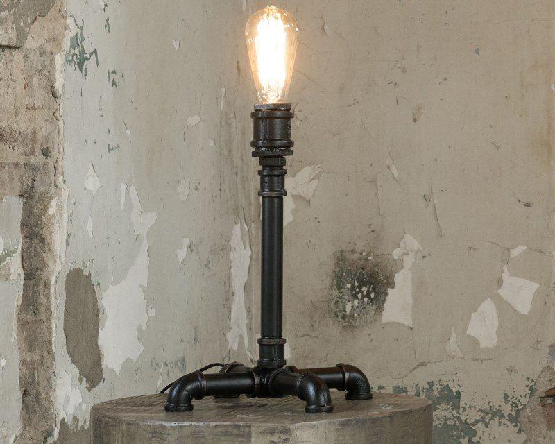 FURBO Bordlampe, industriel design, sort metal