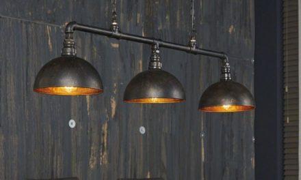FURBO Loftslampe, industri design, sæt med 3 lamper