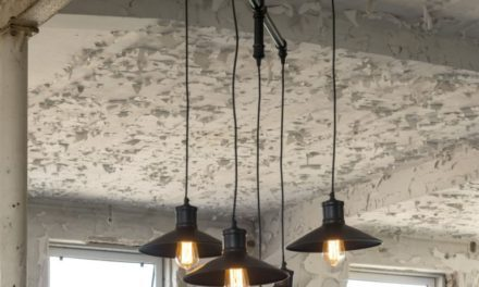 FURBO Loftslampe, industriel design, sort metal