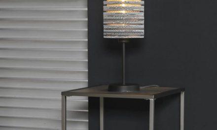 FURBO Bordlampe, metal, hvid skærm