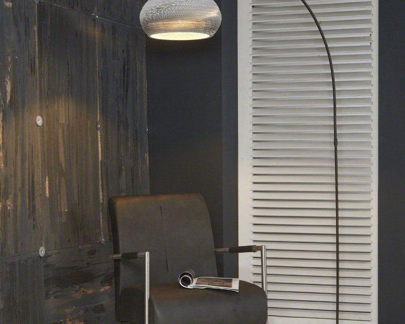 FURBO Gulvlampe, hvid skærm
