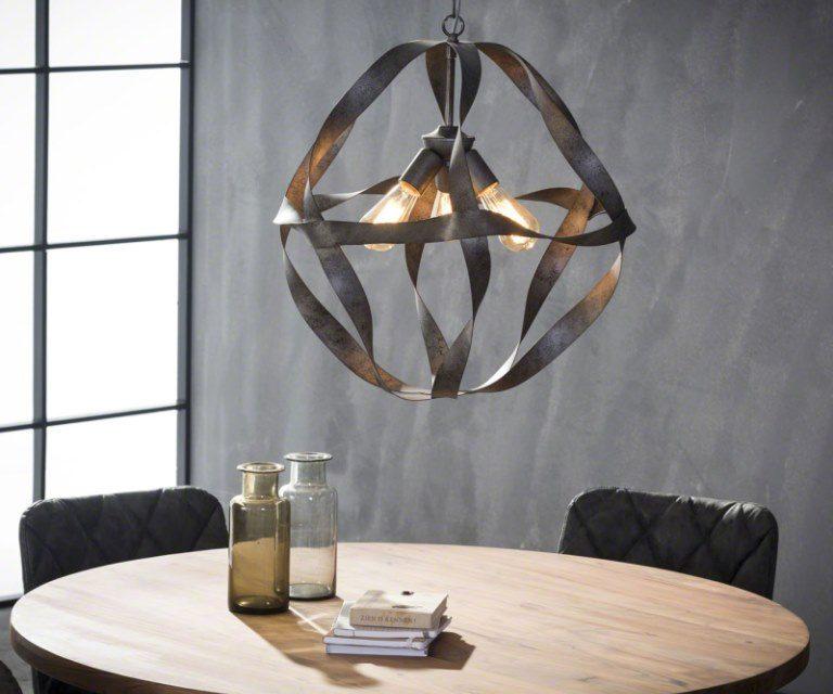 FURBO Loftslampe, snoet metal, ø 55 cm