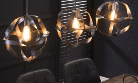 FURBO Loftslampe, snoet metal, 3 lamper ø 30 cm