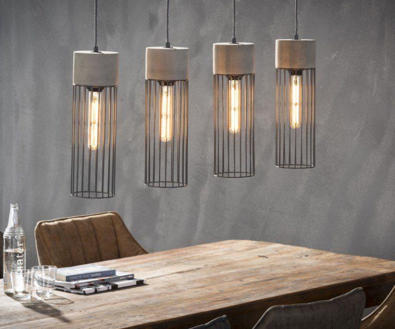 FURBO Loftslampe, beton, stål