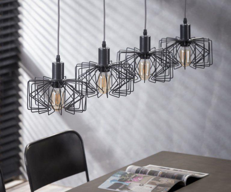 FURBO Loftslampe, 4 grå lamper