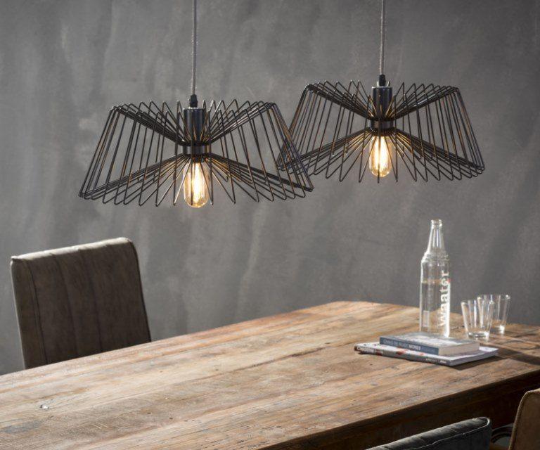 FURBO Loftslampe, 2 grå lamper