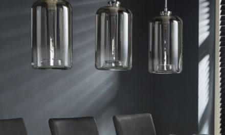 FURBO Loftslampe, glas, krom
