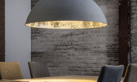 FURBO Loftslampe, beton, antik sølv finish