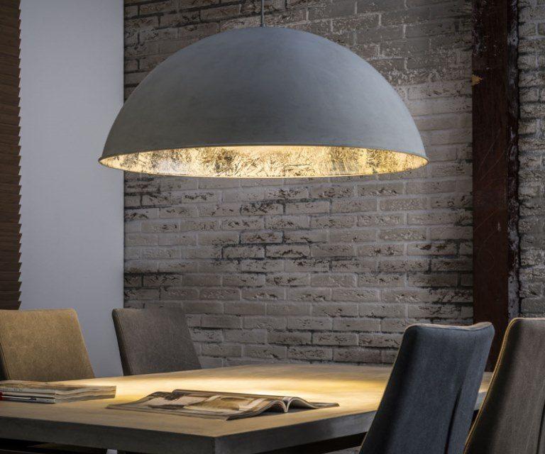 FURBO Loftslampe, beton, antik sølv finish
