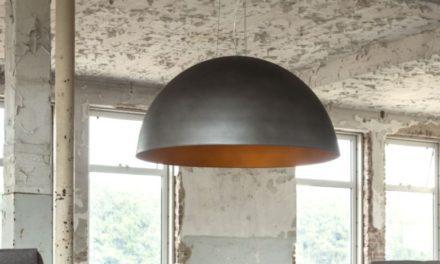FURBO Loftslampe, ø 80 cm, sølv finish