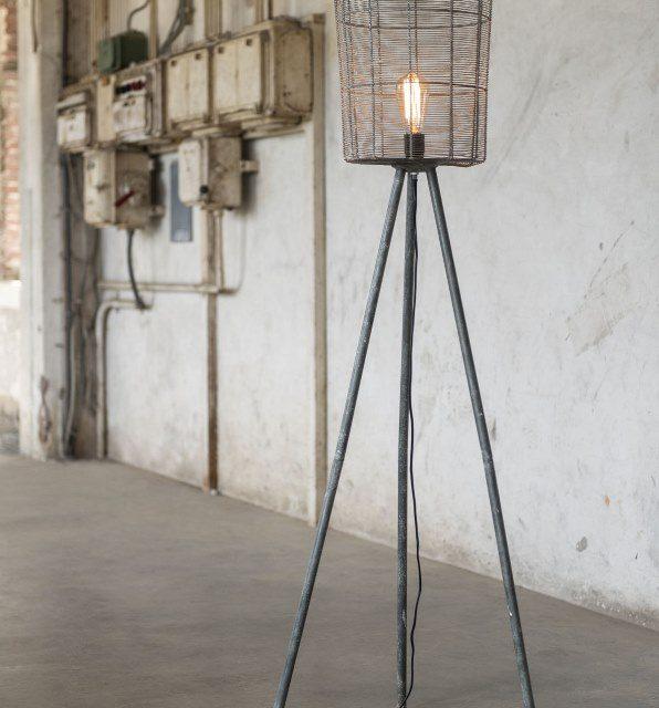 FURBO Gulvlampe, grå metal