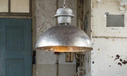 FURBO Loftslampe, ø 55 cm, vejr patineret sølv