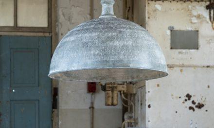 FURBO Loftslampe, ø 70 cm, vejr patineret metal