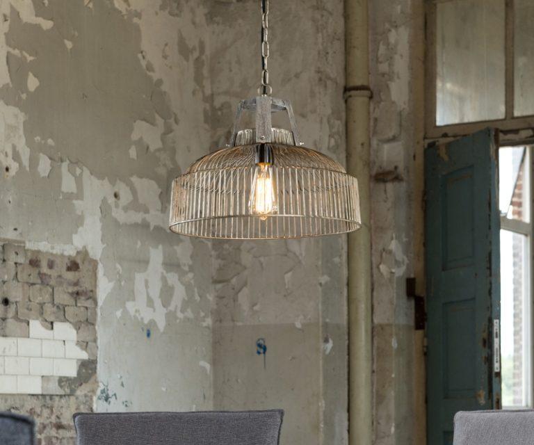 FURBO Loftslampe, ø 40 cm, metal, træ