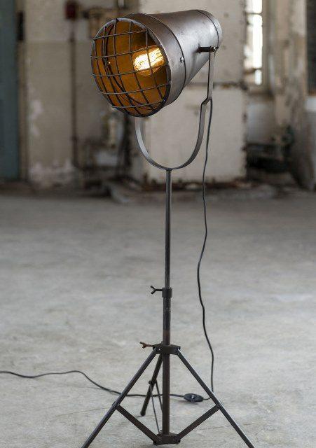 FURBO Gulvlampe, industriel look, antik bronze