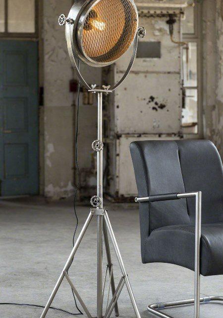 FURBO Gulvlampe, antik nikkel