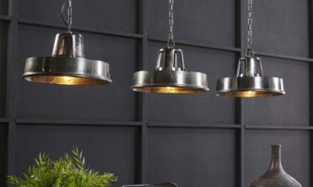 FURBO Loftslampe, sort nikkel, industridesign