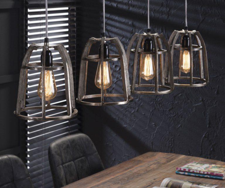 FURBO Loftslampe, antik nikkel